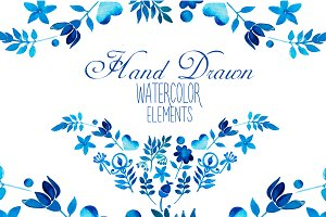 Hand Drawn watercolor elements