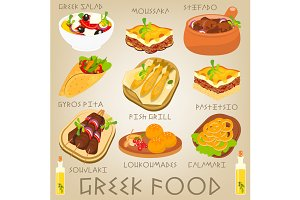 Greek Food Set
