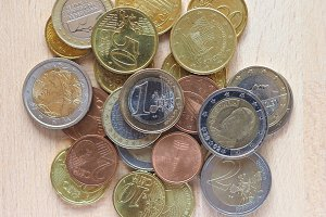 Euro coin money