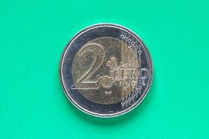 Two Euro coin money