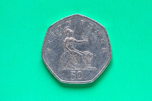 GBP Pound coin - 50 Pence