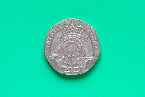 GBP Pound coin - 20 Pence