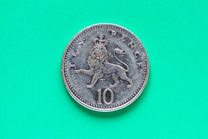 GBP Pound coin - 10 Pence