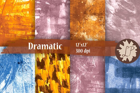 Dramatic abstract papers