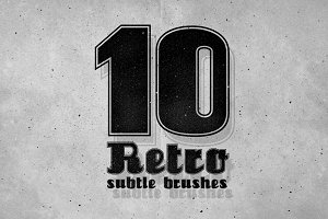 10 Photoshop Retro Subtle Brushes
