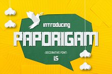 Paporigam by  in Fonts