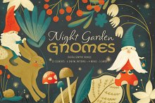 Garden Gnomes Clipart Bundle - JG by  in Graphics