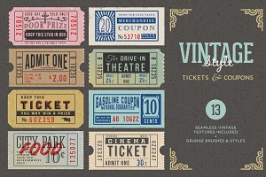 Vintage Tickets & Coupons Bundle