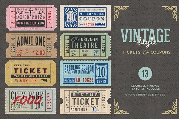Vintage Tickets & Coupons Bundle