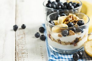 Yogurt with homemade granola