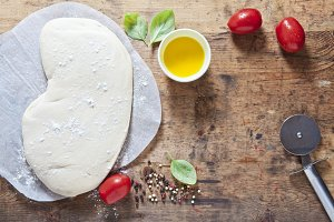 pizza dough and components