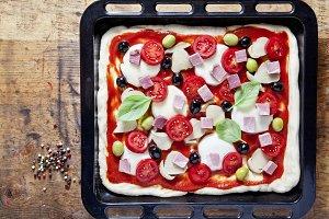 classic Italian healthy pizza