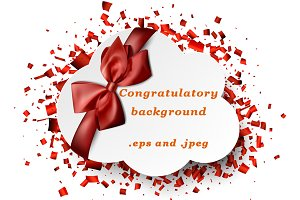 Congratulatory red background
