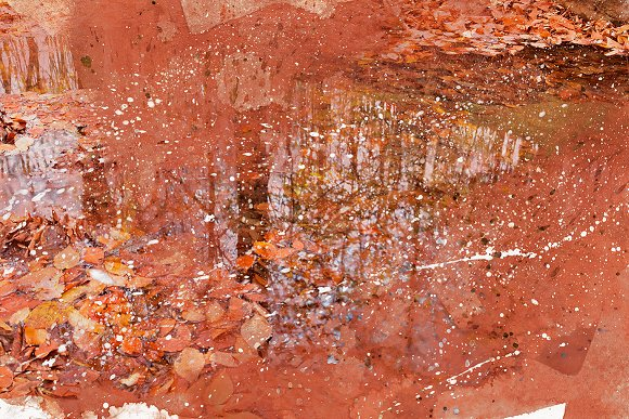 Acrylic Fall Reflections in Textures
