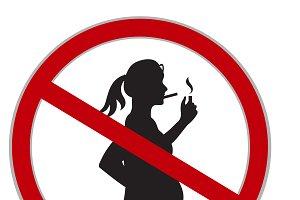 No smoking while pregnant sign