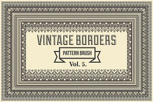 Vintage Borders Pattern Brushes 5