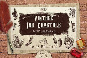 Vintage Ink Crystals PS Brushes
