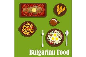 Dinner of bulgarian cuisine
