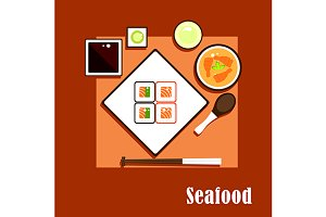 Asian cuisine seafood dishes