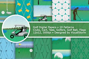 Golf Digital Paper Pack