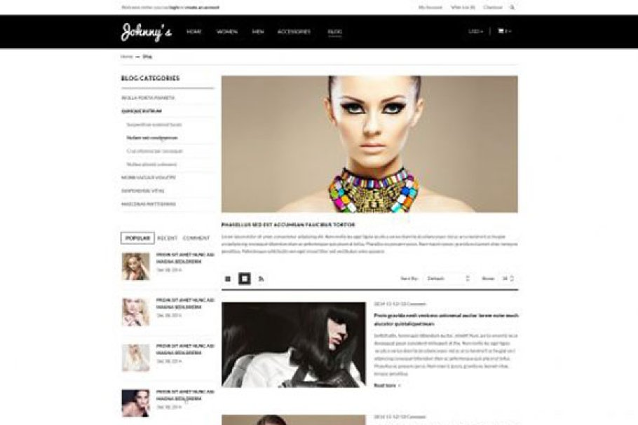 Johnny Responsive OpenCart Theme