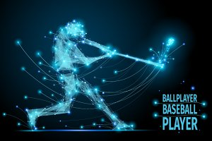 baseball polygonal ballplayer