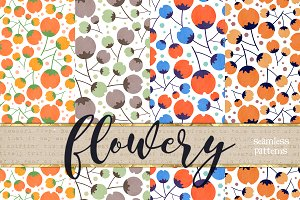 Floral❀seamless✿patterns❁