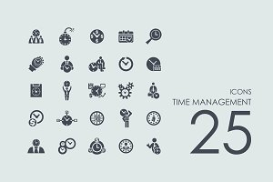 25 Time Management icons
