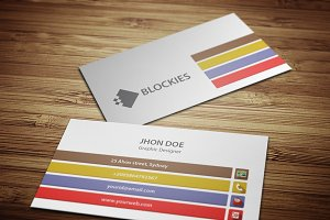Flat Elegant Business Card