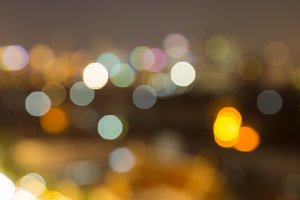 Bokeh of lights in the city.