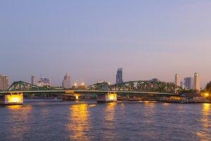 River Bridge in Bangkok city
