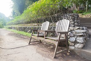 Chairs, garden benches