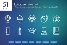 51 Education Line Icons