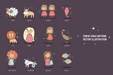 Zodiac cartooon vector illustration