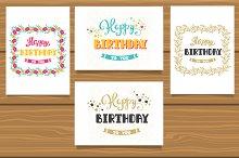 Happy Birthday set of cards + BONUS