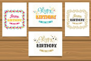 Happy Birthday set of cards + BONUS