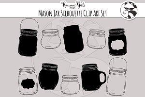 Mason Jar Silhouettes