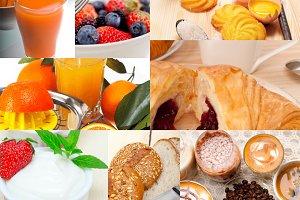 ealthy vegetarian breakfast collage