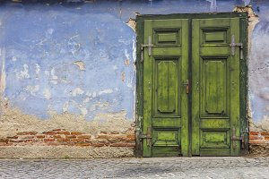 Colorful Wall and Door