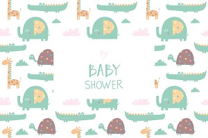 Baby Shower patterns and invitations