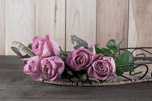 Bouquet of freshly cut roses