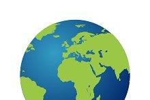 Map of the world globe