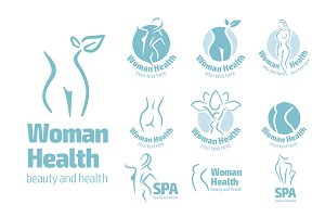 Woman logo set