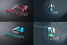 Letter A Logos Pack