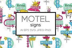 Motel sketch signs