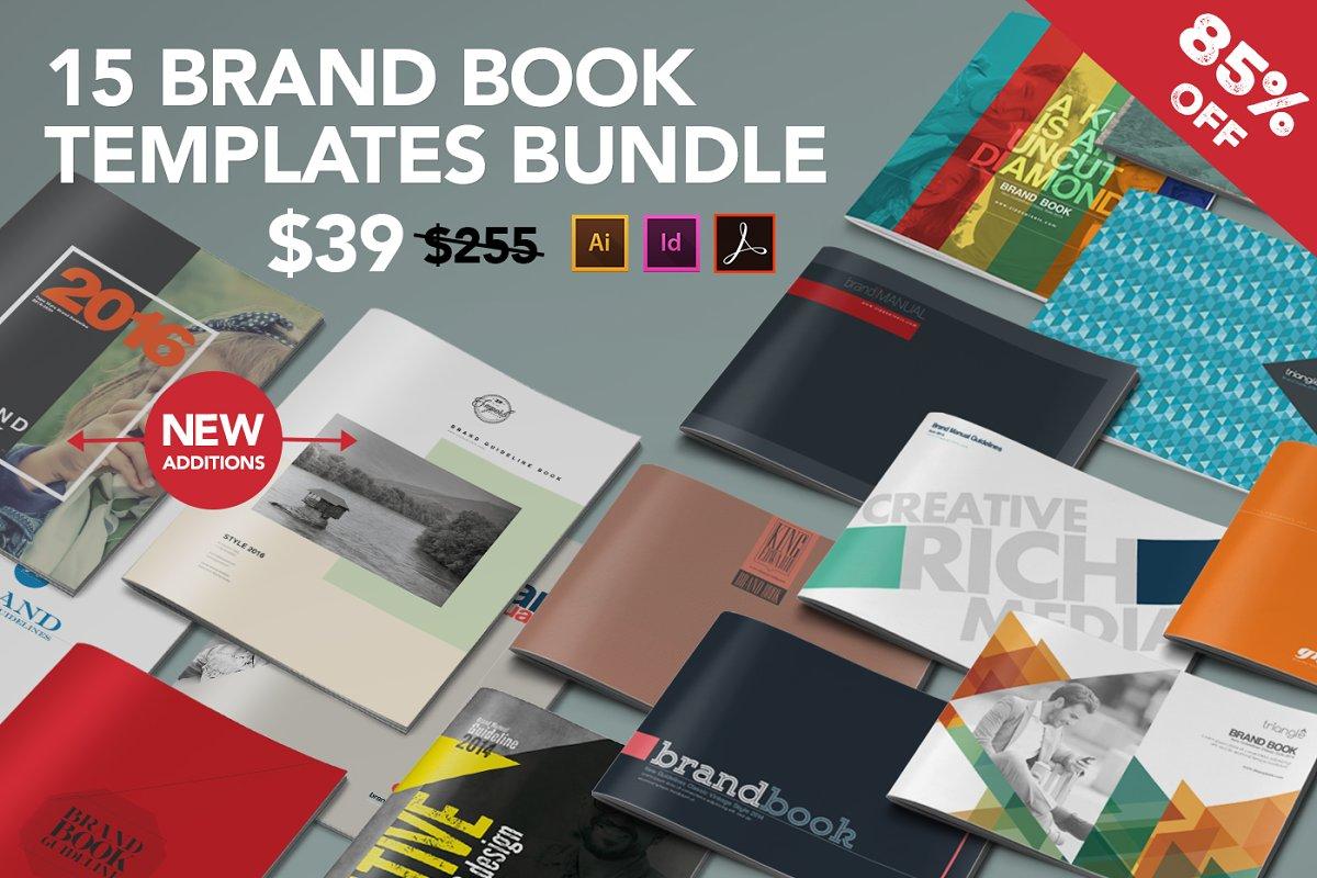 15 Brand Guidelines Templates Bundle ~ Brochure Templates