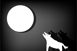 Wolves howl at the moon