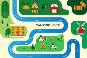 Camping Village Lanscape