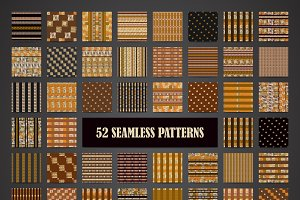 52 hand drawn ethnic patterns