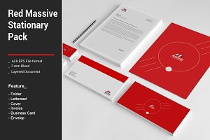 Red Massive Stationary Pack